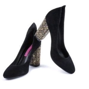 Tracy Reese Sparkly Block Heels